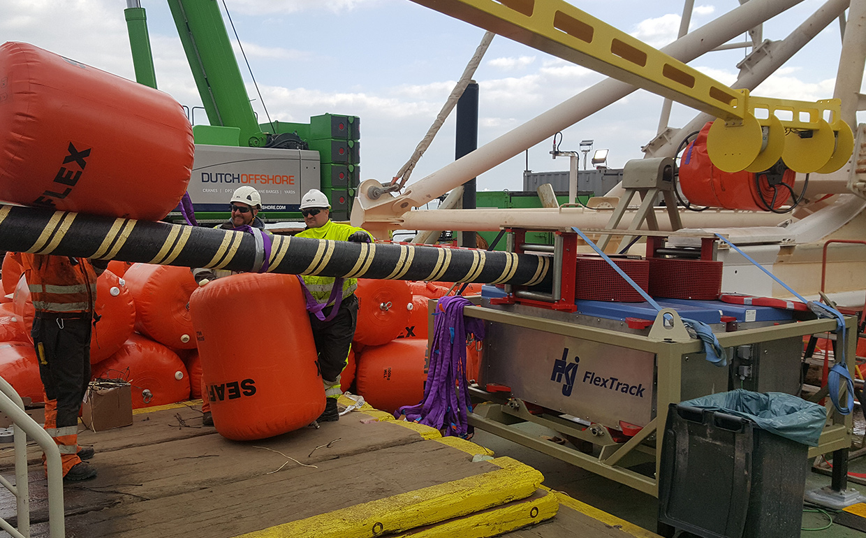 "Delivery of Cable handling equipment onboard clv ""Giant 7""."